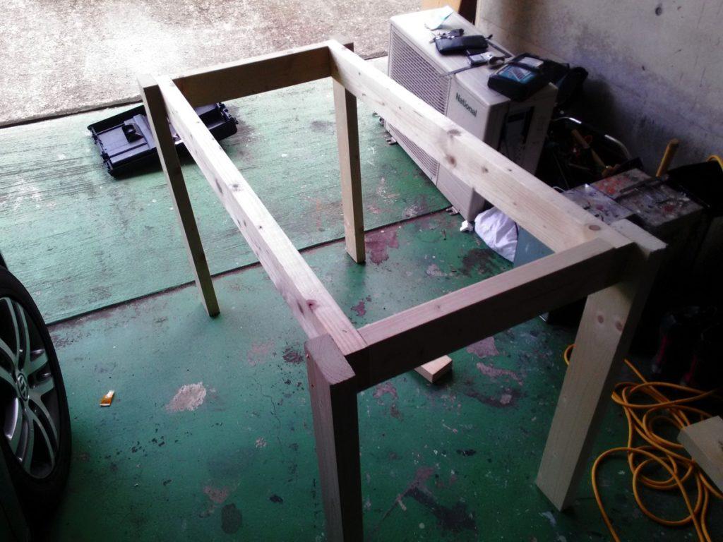 アロワナ 120cm 水槽台 自作 2x4