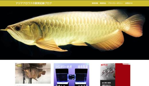 アジアアロワナの飼育記録ブログ、ブログをリニューアルしました